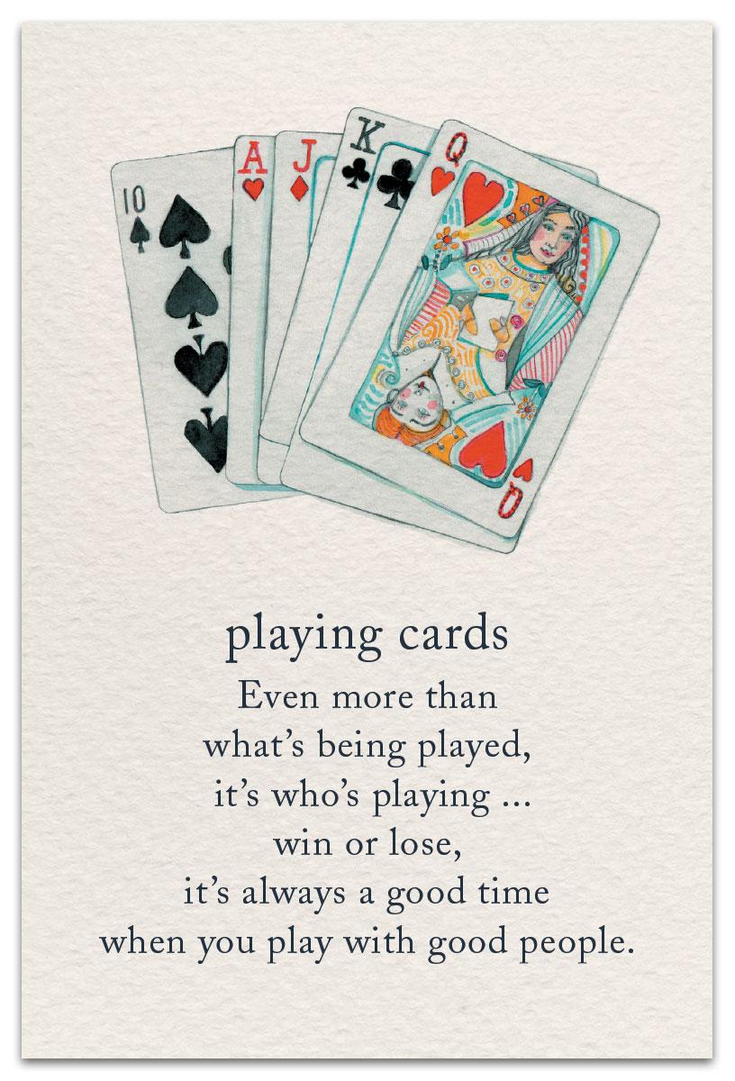 Playing Cards Birthday Card