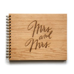 mrs and mrs wedding guestbook