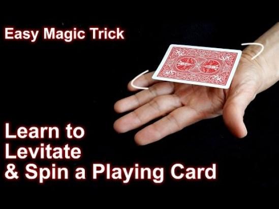 levitating card trick