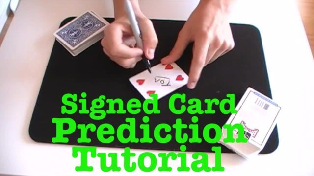 The Signed Card Trick by David Blaine