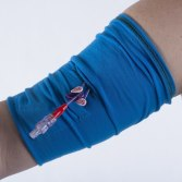 lift the top layer of the CareAline sleeve to access your lines for use.