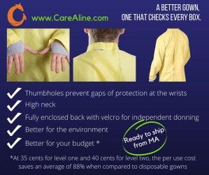 CareAline reusable isolation gowns check all the boxes for better protection, better safety, and better cost.