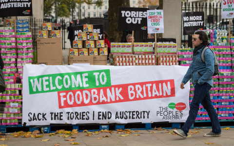 Food bank charity report busiest ever period with 820,000 emergency parcels given out 1