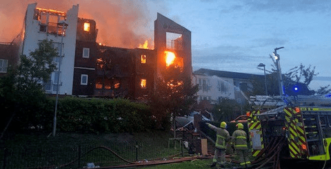 More than 100 evacuated after major fire ravaged retirement apartments 9