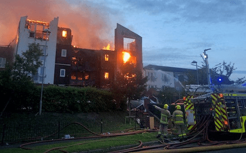 More than 100 evacuated after major fire ravaged retirement apartments 1