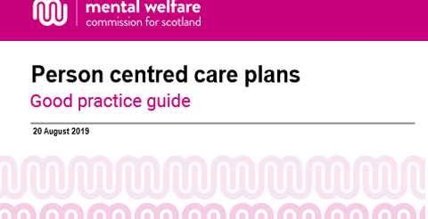 Guidance: Person centred care plans - Dementia, mental health and learning disability services 5