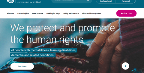 Webwatch: New Mental Welfare Commission website offers improved user experience 1