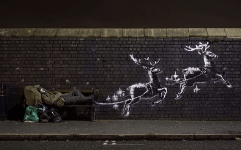 New Christmas-themed Banksy mural highlights issue of homelessness 3
