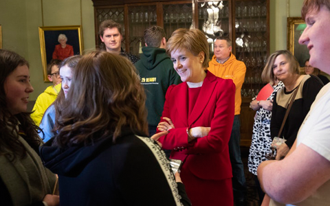First Minister hosts care experienced young people ahead of Independent Care Review 4