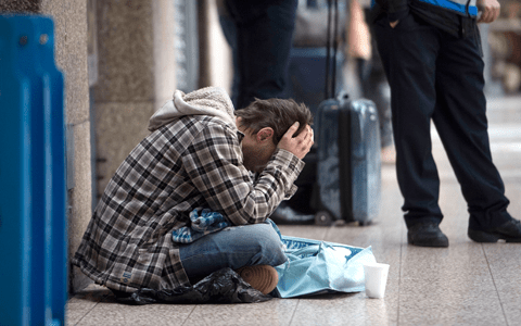 Edinburgh study finds mental health issues affect most beggars in the city