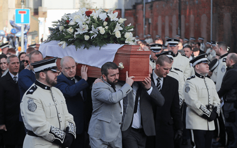 Belfast community worker showed 'unparalleled bravery', funeral told