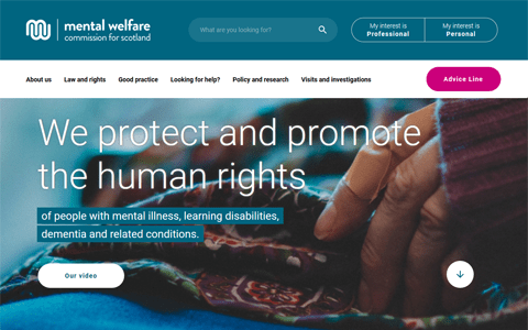 Webwatch: New Mental Welfare Commission website offers improved user experience