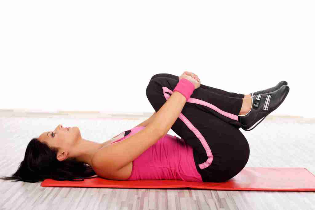 Knee to chest stretch Exercises for Sciatica