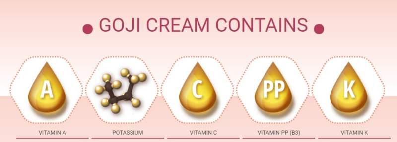 goji cream contains