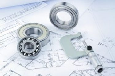 picture of steel rings, ball bearings on a scale drawing