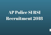 AP Police SI RSI Recruitment 2018