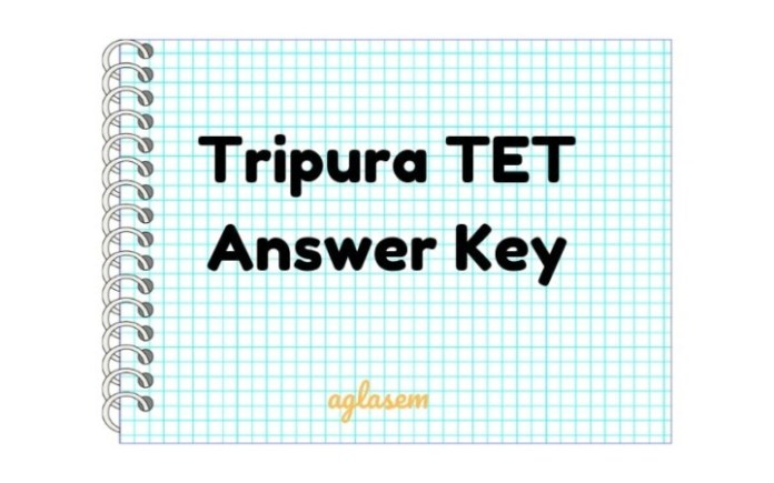 Tripura TET Answer Key