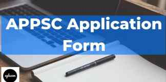APPSC Application Form Aglasem