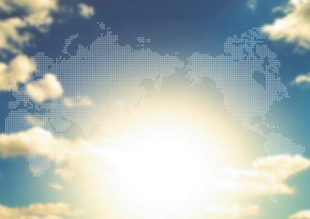 世界地図 朝日