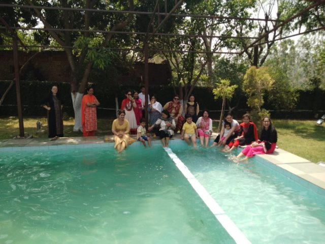 Enjoyment near the Pool