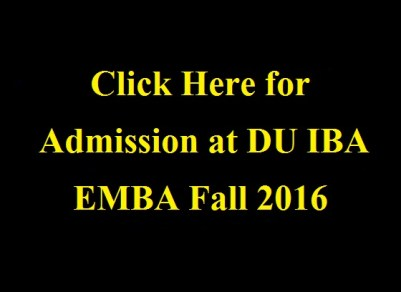 IBA Executive MBA Admission Autumn 2016
