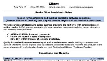 sales resume bullet points