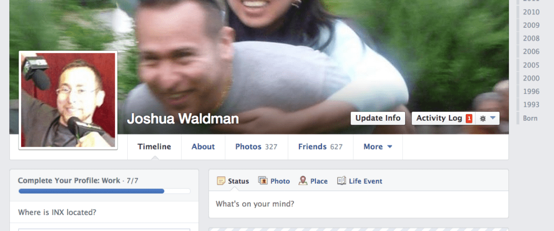 how to delete work history on facebook