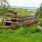 Iquitos old boat peru