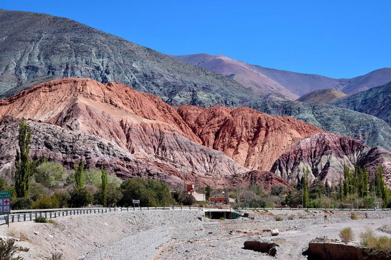 The Hill of Seven Colours in Purmamarca has been formed by a complex geological history