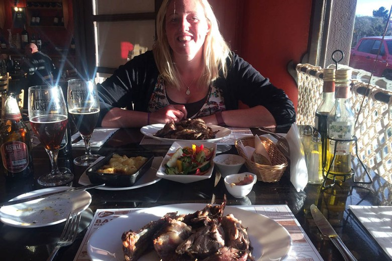 Treating ourselves to some Chilean lamb BBQ at El Asador Patagonico after completing the W Trek