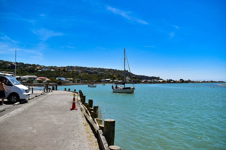 Walking along Moncks Bay in Christchurch during our first day on New Zealand's South Island