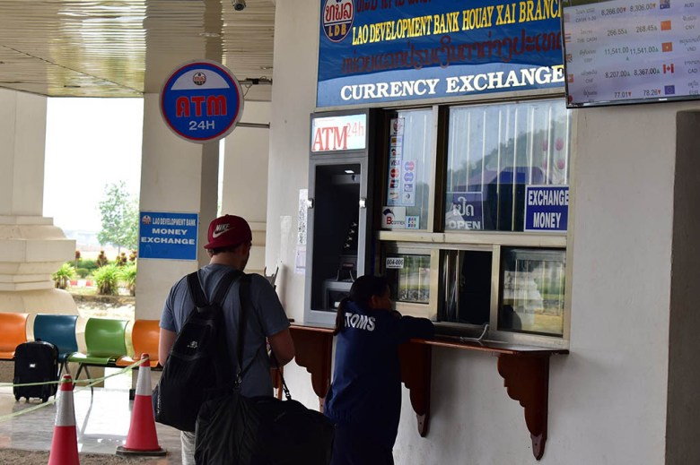 It's possible to get Laos currency at the border crossing