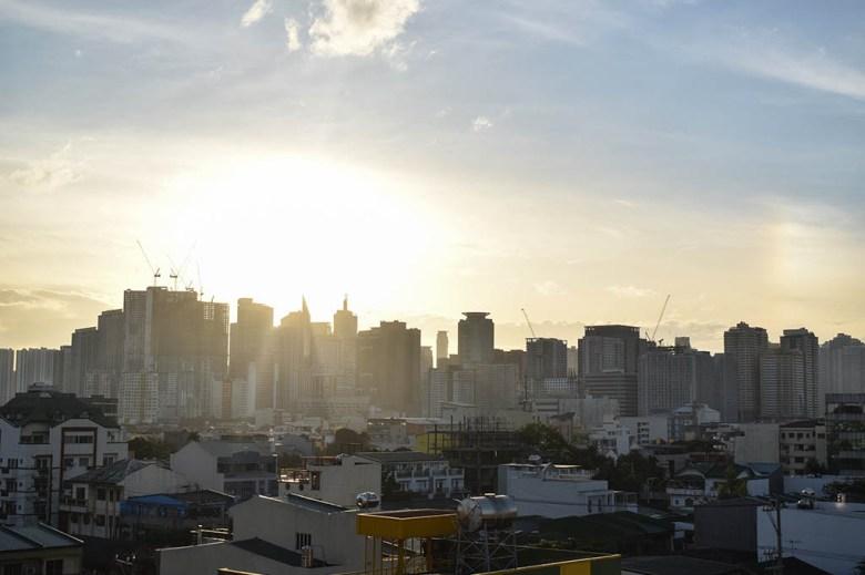 Morning sunshine in Manila
