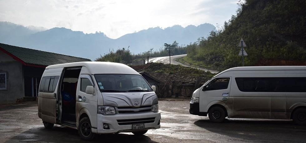 Luang Prabang to Vang Vieng minivan
