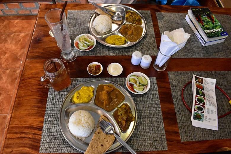 Thali at Pilgrims Kitchen Savannakhet