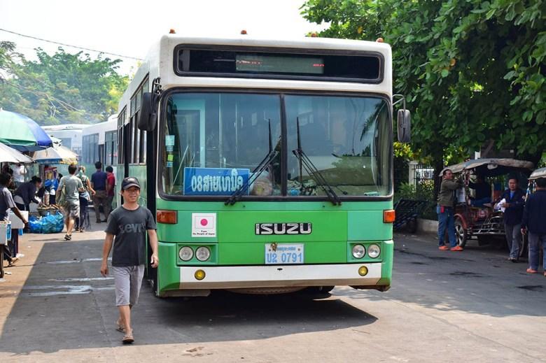 Vientiane Buddha Park bus