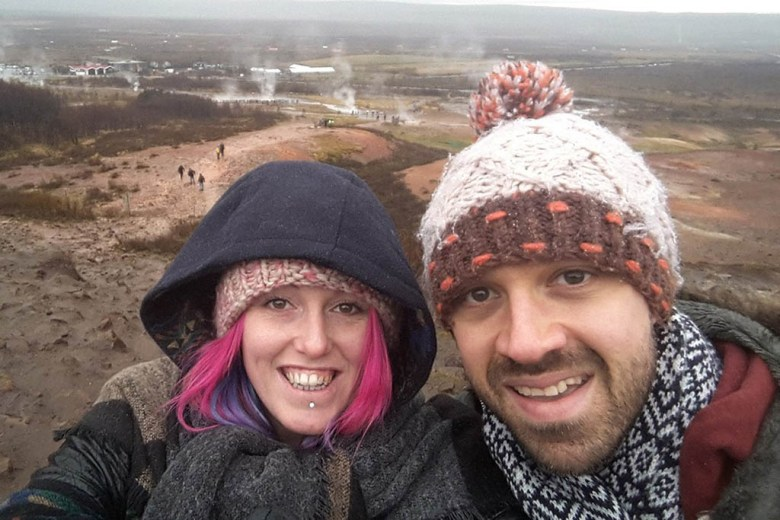 On our travels in Iceland a few months before our big round the world trip