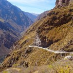 Colca Canyon trek: the winding downhill path to San Juan de Chucchu