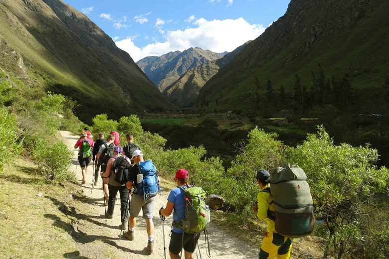Our group sets off on day one of the Inca Trail