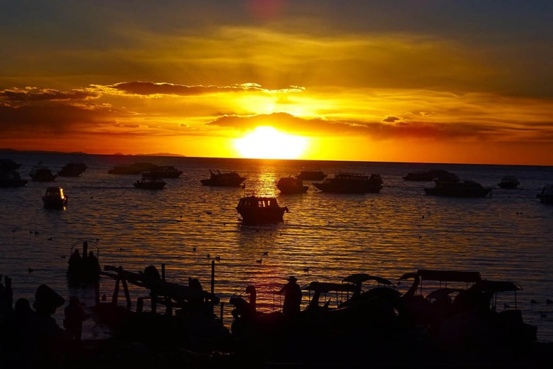Lake Titicaca Bolivia style: Copacabana gave us one of the best sunsets we saw anywhere in the world