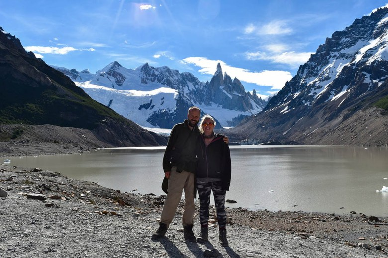 After a hard day's hiking we made it to Laguna Torre