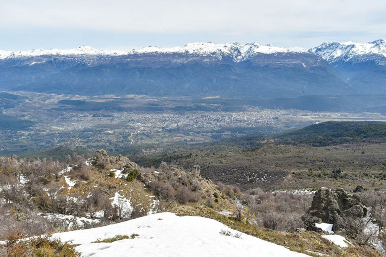 The hike to Cerro Piltriquitrón offers a spectacular view of El Bolsón and the surrounding valley
