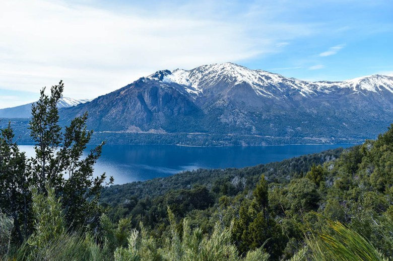 The view of Lago Gutierrez on the road down from Catedral Alta Patagonia ski resort