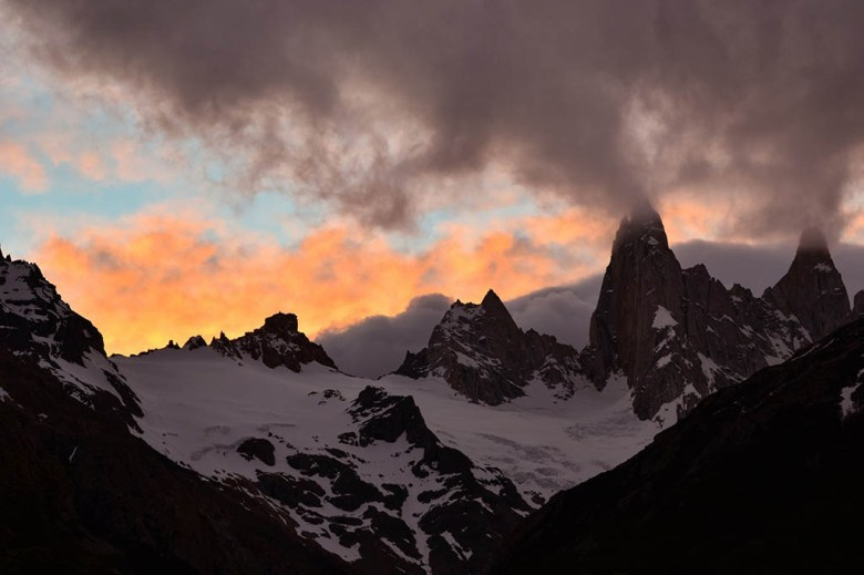 Mount Fitz Roy is famous for its sunrise, but it's beautiful at sunset too