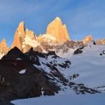 Mount Fitz Roy at sunrise Laguna de los Tres