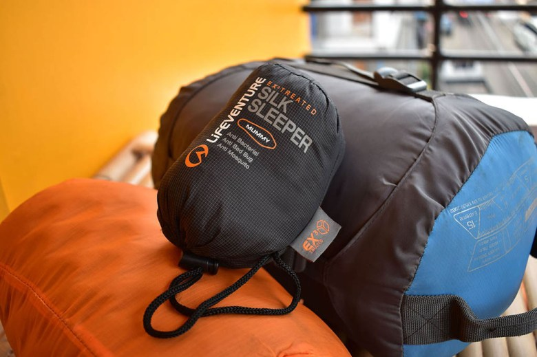 We invested in good sleeping bags, mats and silk liners to keep us warm on those cold camping nights