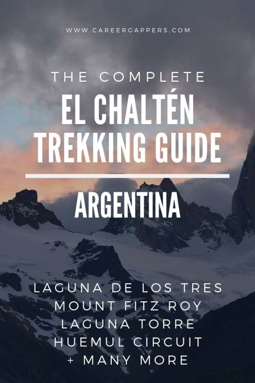 El Chaltén in Patagonia features some of Argentina's most iconic trekking. This guide explains how to hike to Laguna de los Tres, Mount Fitz Roy and more. #elchalten#elchaltenhikes #elchaltentrekking #mountfitzroy #patagoniahiking