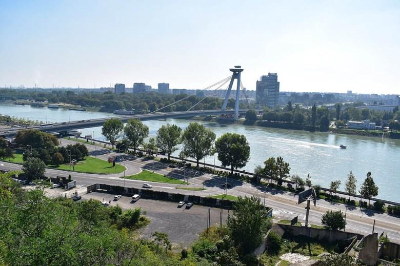 Most SNP, the 'UFO Bridge', was constructed during the communist era in Bratislava