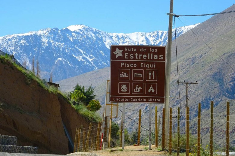 The pathway through the Elqui Valley is known as 'Ruta de las Estrellas' ('Route of the Stars')