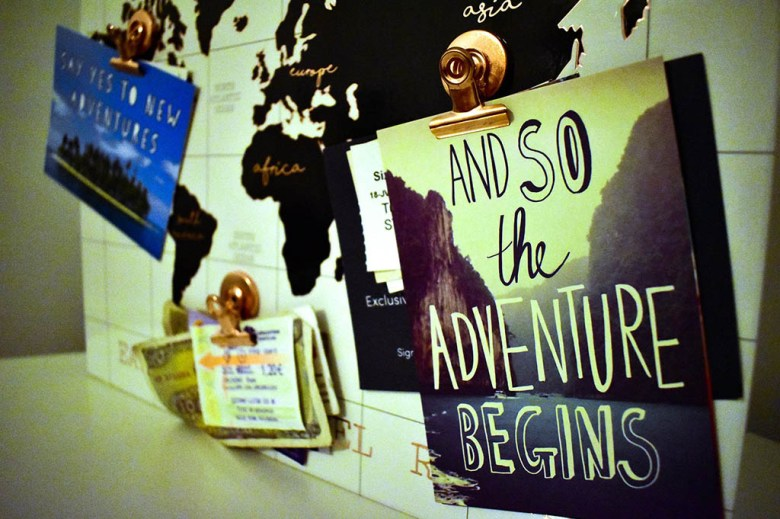 Collating a travel mood board is a way to find inspiration for future journeys